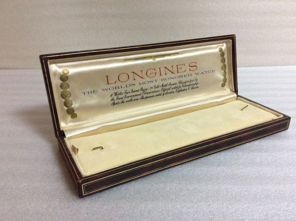 Longines rare vintage watch box | LONGINES | Vintage ...