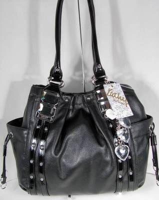 107ac11c90f6 NWT Kathy Van Zeeland Handbag Purse Bag Glam Rock Shopper Black)ღ~ ~ ✿⊱╮ I  love it