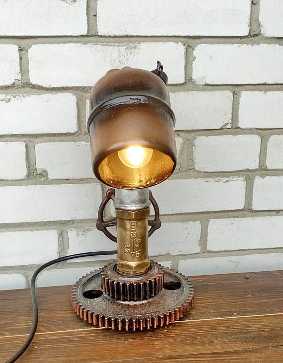 Unique lampsIndustrial lampsEtsy giftsMetal lampsBedroom