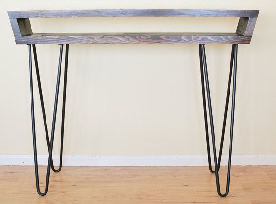 midcentury inspired console table mid century entry table sofa table or mid century desk