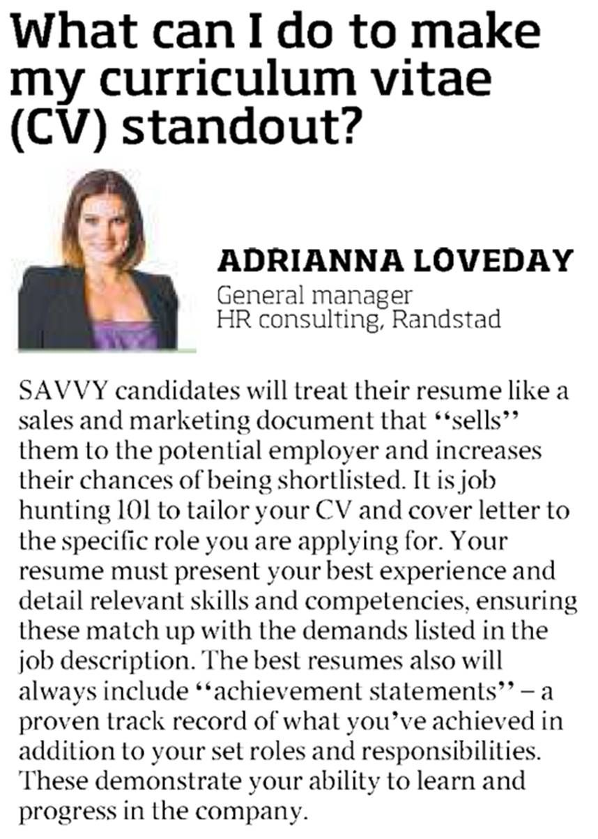 How Do I Make My Curriculum Vitae (cv) Stand Out? Http:/  What Does Cv Stand For Resume