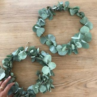 Photo of Make your own eucalyptus wreath, instructions for making it yourself