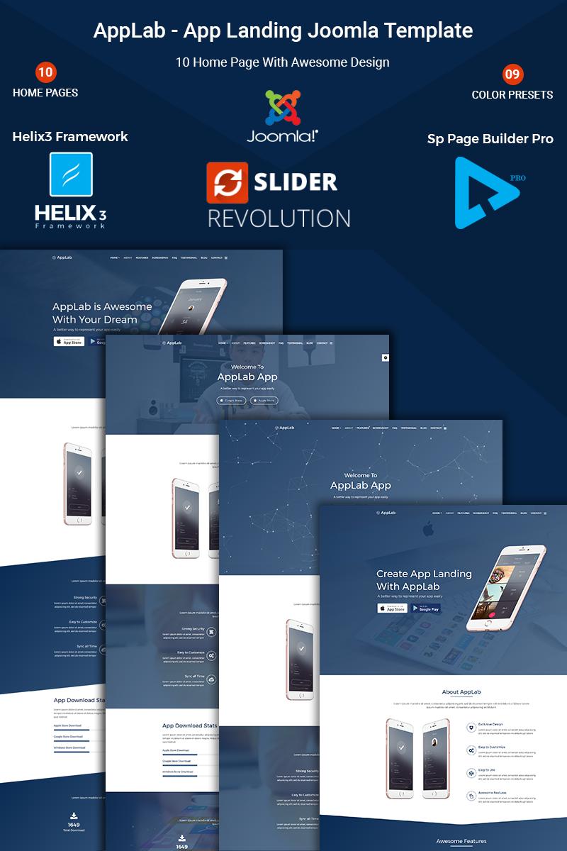 Applab App Landing Bootstrap Joomla Template Big Screenshot Best