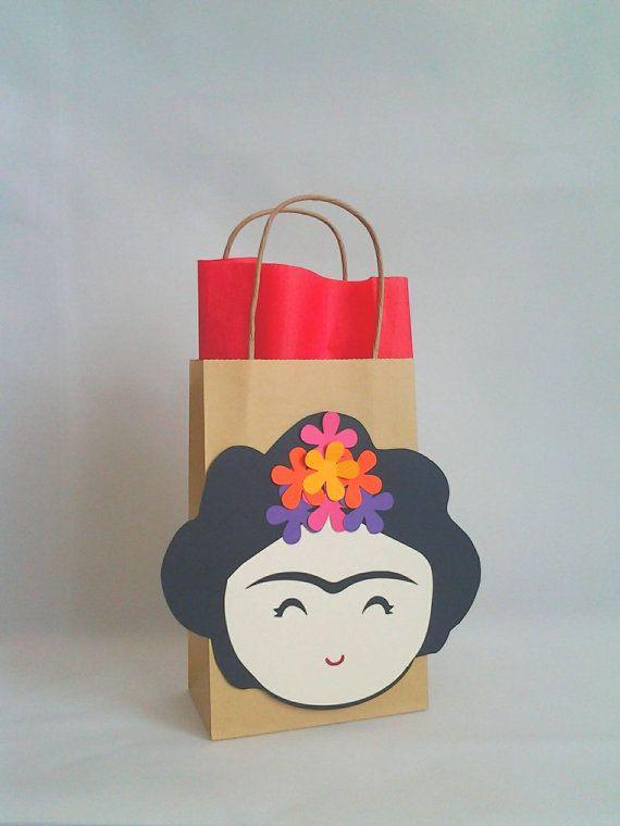 47b6328c1 Bolsa de Papel con Frida Kahlo por PAPALOTES en Etsy | imagenes ...