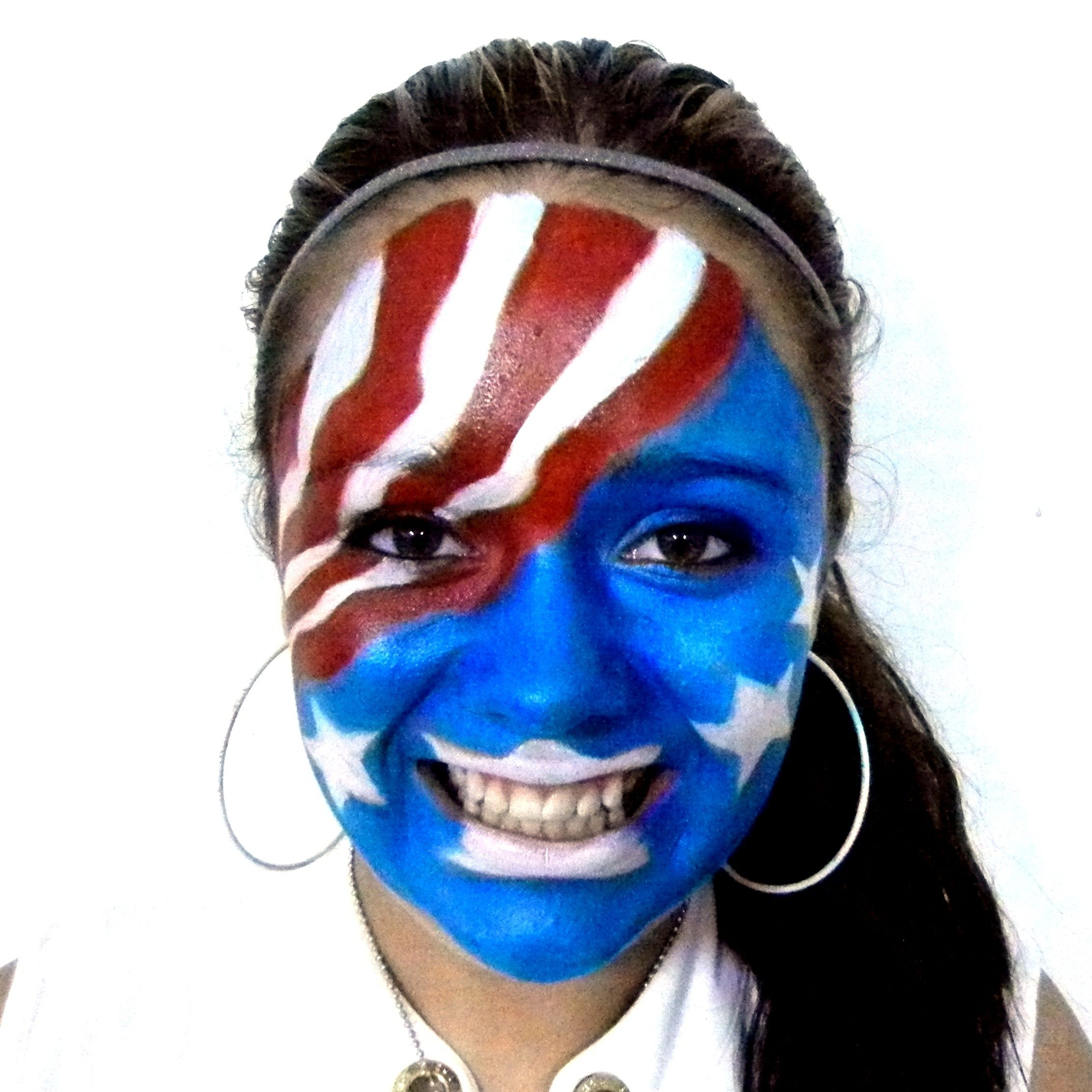 Proud to be an American! Natural 4th of July face paint design ...
