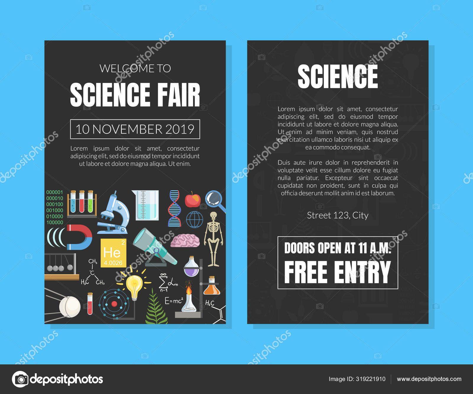 Science Fair Invitation Card Template