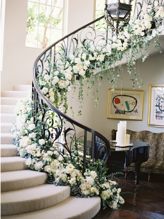 If the venue has a staircase decorate it with a garland of if the venue has a staircase decorate it with a garland of flowers like this junglespirit Images