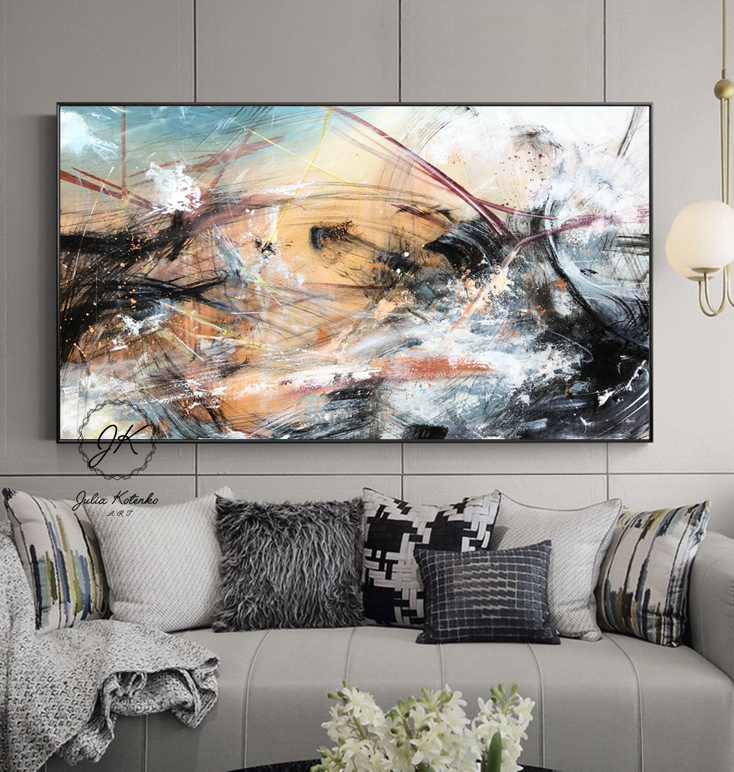 Large Abstract Painting Original Canvas Large Wall Art Contemporary Art Living Room Wall Art Abstract Pa Large Abstract Painting Abstract Painting Abstract #wall #art #contemporary #living #room