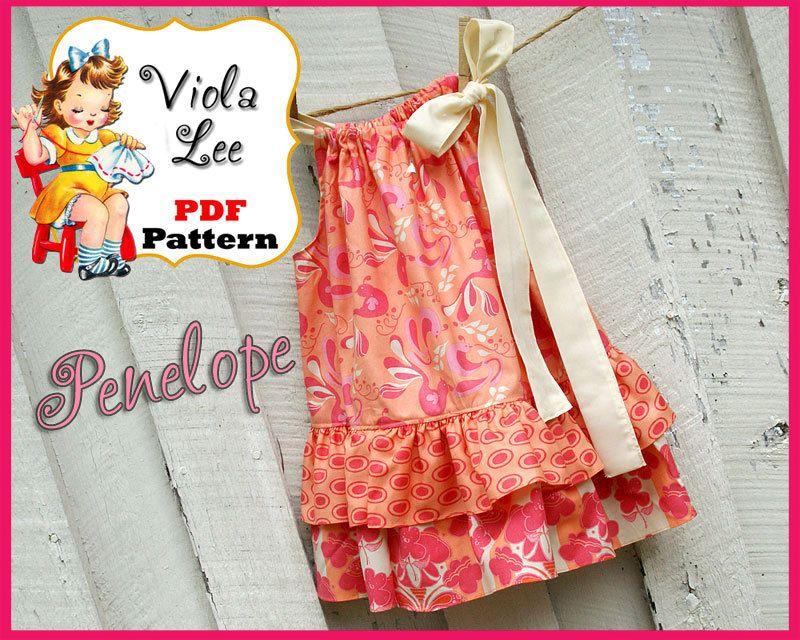 Girls Dresses Sewing Patterns Download, Girls Pillowcase Dress ...