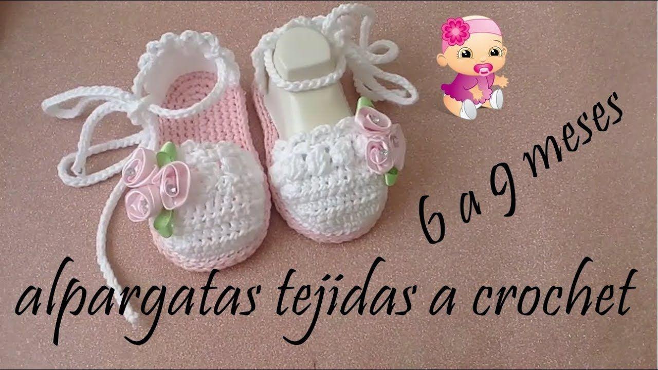 alpargatas tejidas a crochet | Zapaticos, ropitas para bebes, niños ...