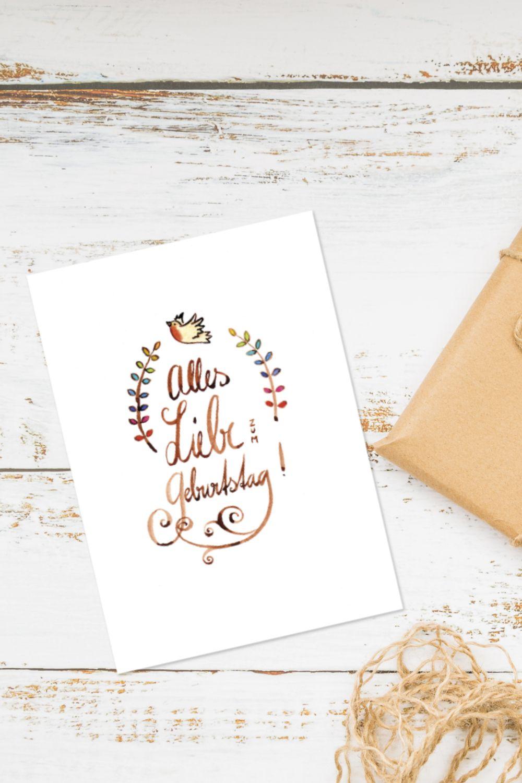 Die Geburtstagskarte Alles Liebe Zum Geburtstag Von Friederike