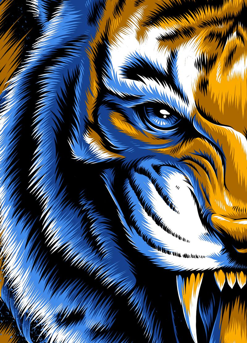 Incomparables X Tigres Uanl On Behance Ilustrador Tiger Art