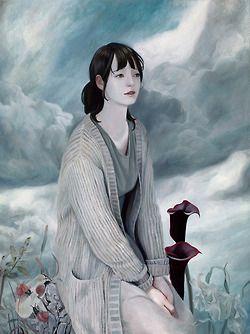 "joanne nam ""Insomnia"" Oil on wood panel 18""x24"""