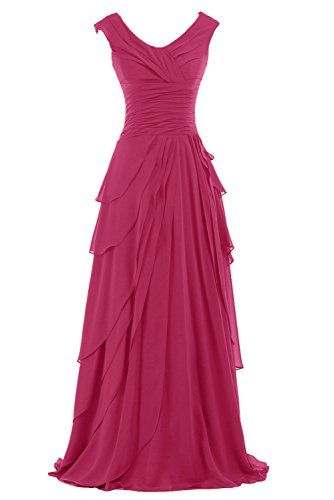 Sunvary Women's Prom Pageant Dress Round-Neck A-line Chif...
