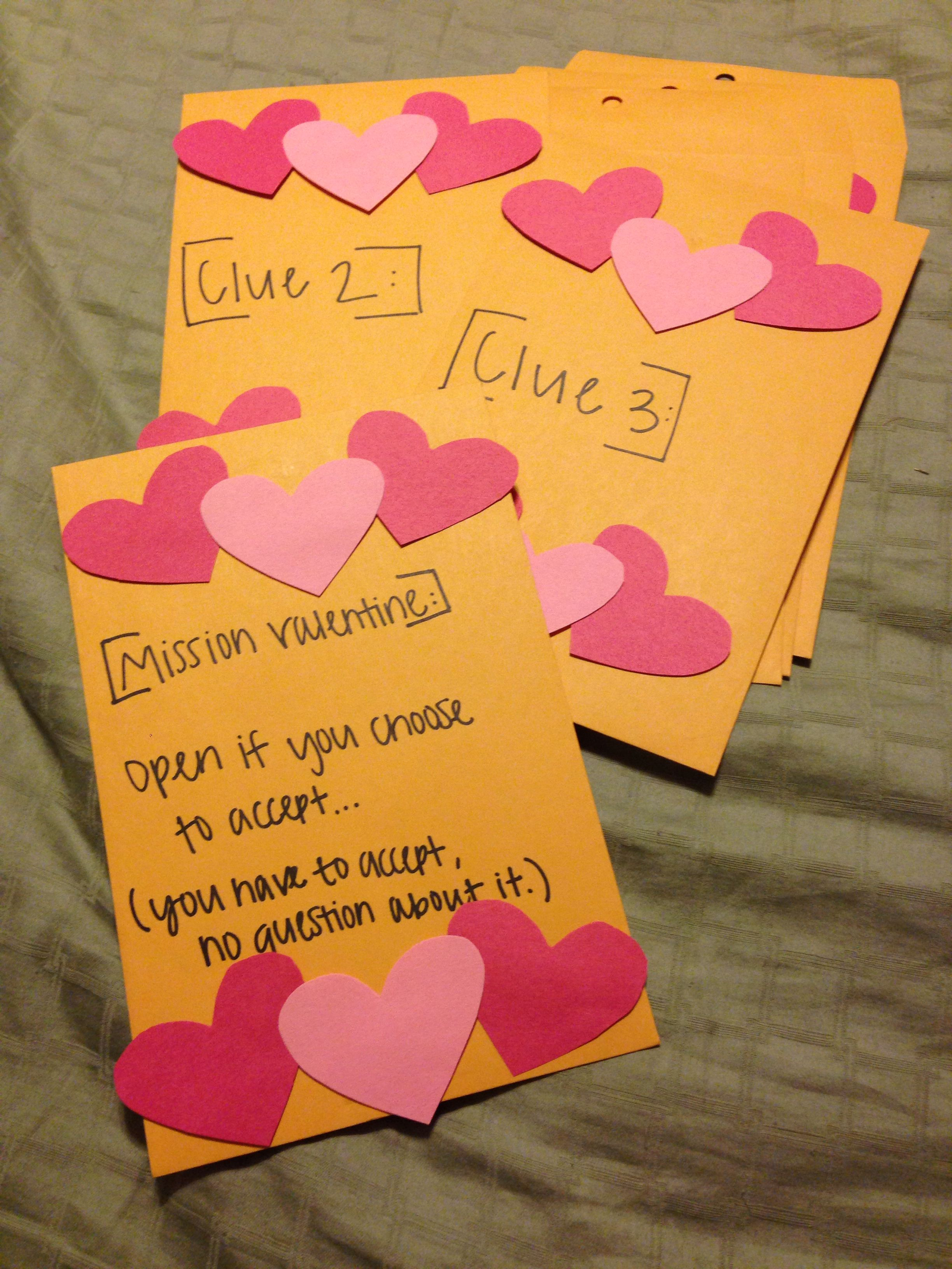 valentine's day scavenger hunt list