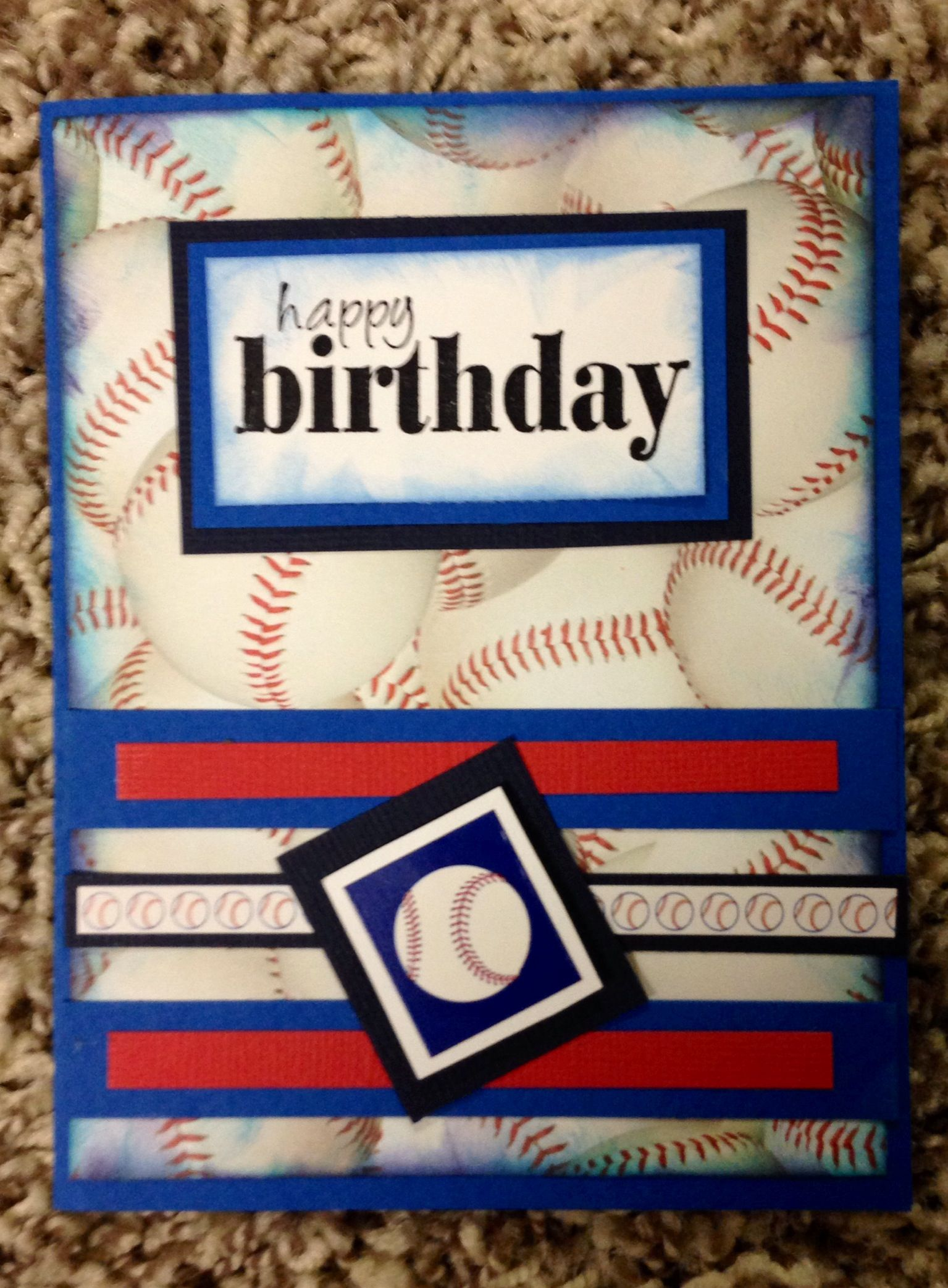 Baseball Birthday Card Cards Cards Baseball Birthday