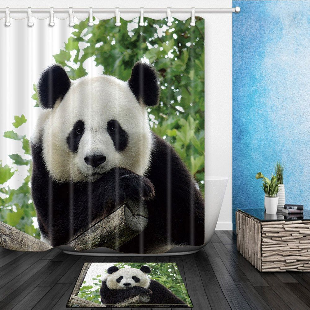 Details About The Panda Theme Waterproof Fabric Home Decor Shower