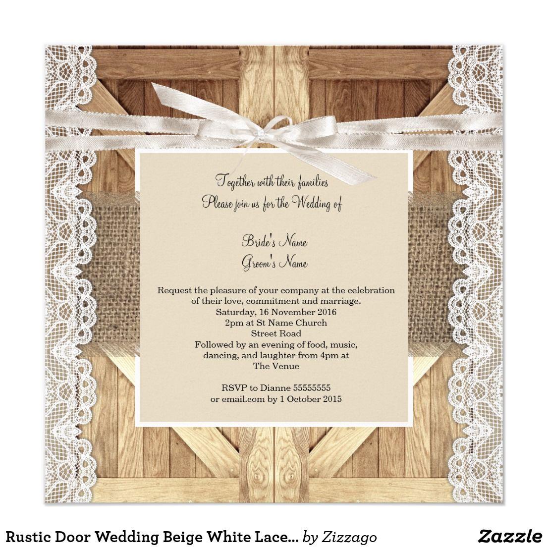 Rustic Door Wedding Ideas: Rustic Door Wedding Beige White Lace Wood Burlap