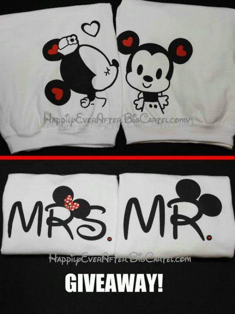 Disney Mickey Mouse Couples TShirts by 4everBigRedCreations