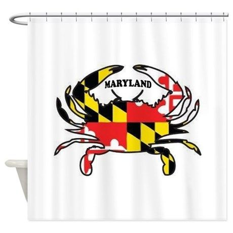 Maryland Crab Shower Curtain By Theoldcoot Maryland Crabs