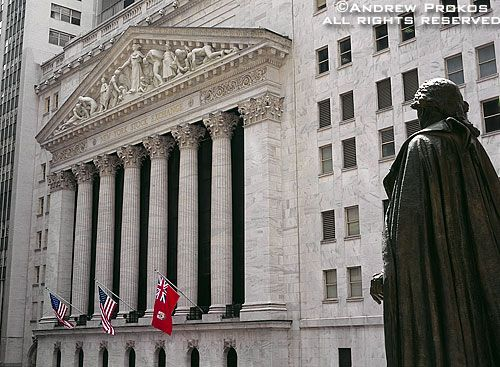 View Of The New York Stock Exchange From Federal Hall Fine