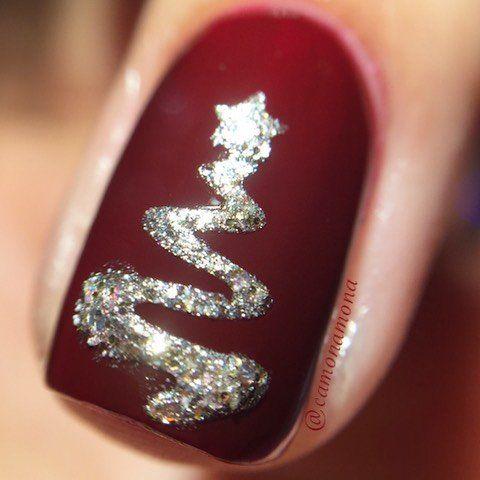 Ribbon Tree Stencils For Nails Christmas Nail Stickers Nail Art