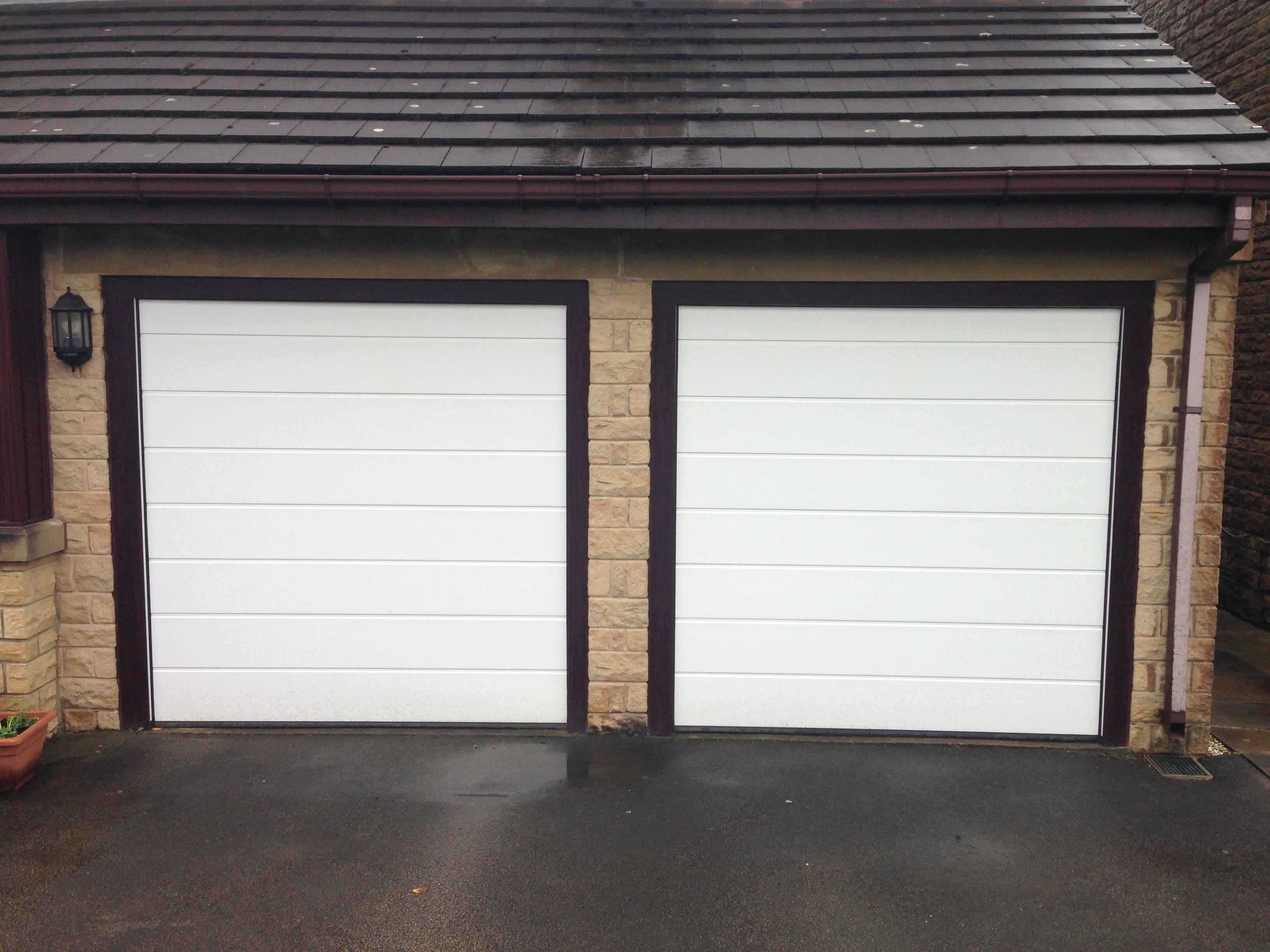 Case Study   Hormann LPU40 M Ribbed Design Sectional Garage Door Installed  In Leeds.