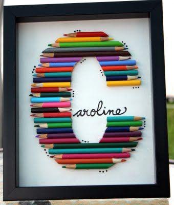 cadeau maitresse home d co crayons couleur id es cadeaux maitresse atsem pinterest. Black Bedroom Furniture Sets. Home Design Ideas
