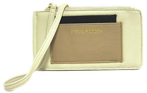 33263c71475 Steve Madden Multi-Pocket Wristlet, Cream Multi *** Click on the image for  additional details.