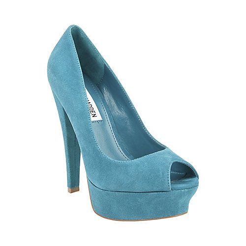 HIPIEE TEAL SUEDE women's dress high platform - Steve Madden