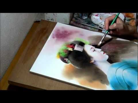 How To Paint Hair And Ears Watercolor Portrait Tutorial