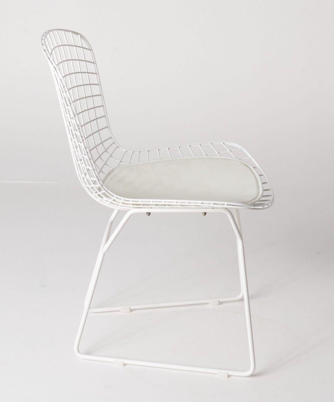 Milano Republic Furniture - Replica Harry Bertoia Bird Chair white powdercoated with white cushion , $99.00 (http://www.milanorepublicfurniture.com.au/replica-harry-bertoia-bird-chair-white-powdercoated-with-white-cushion/)