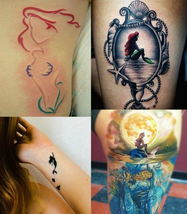 disney tattoos motive ideen arielle merrjungfrau. Black Bedroom Furniture Sets. Home Design Ideas