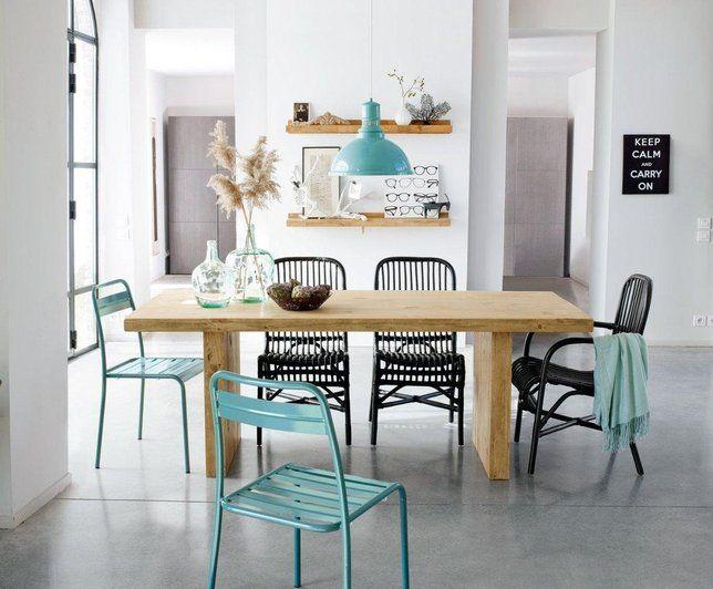 Photo deco salle à manger blanc vintage collection la redoute interieurs juin 2015