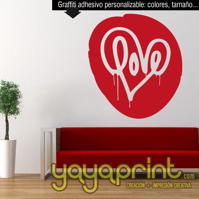Graffiti personalizado tags vinilo decorar pared banksy for Vinilo habitacion juvenil