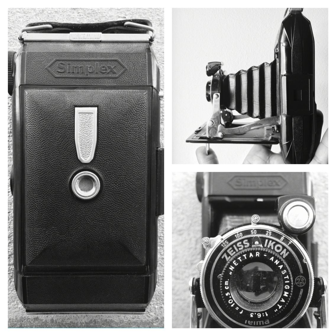a classic folding german camera zeiss ikon simplex dated 1928 one