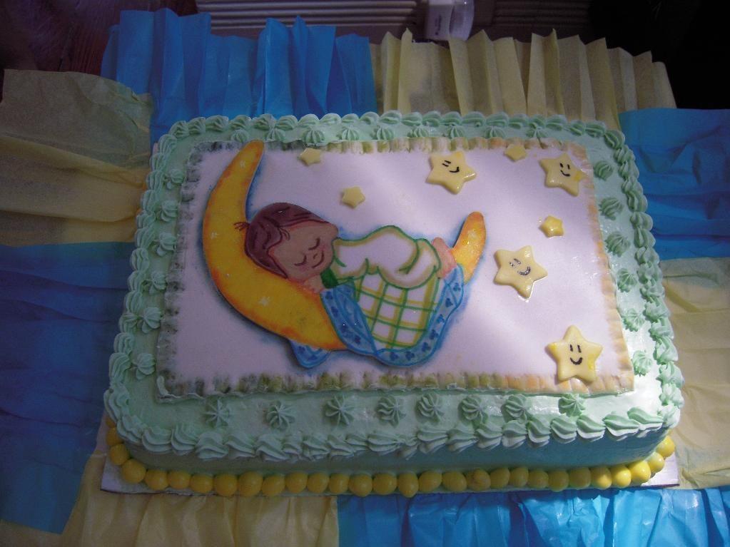 Baby boy sleeping on the moon cake via craftsy moon