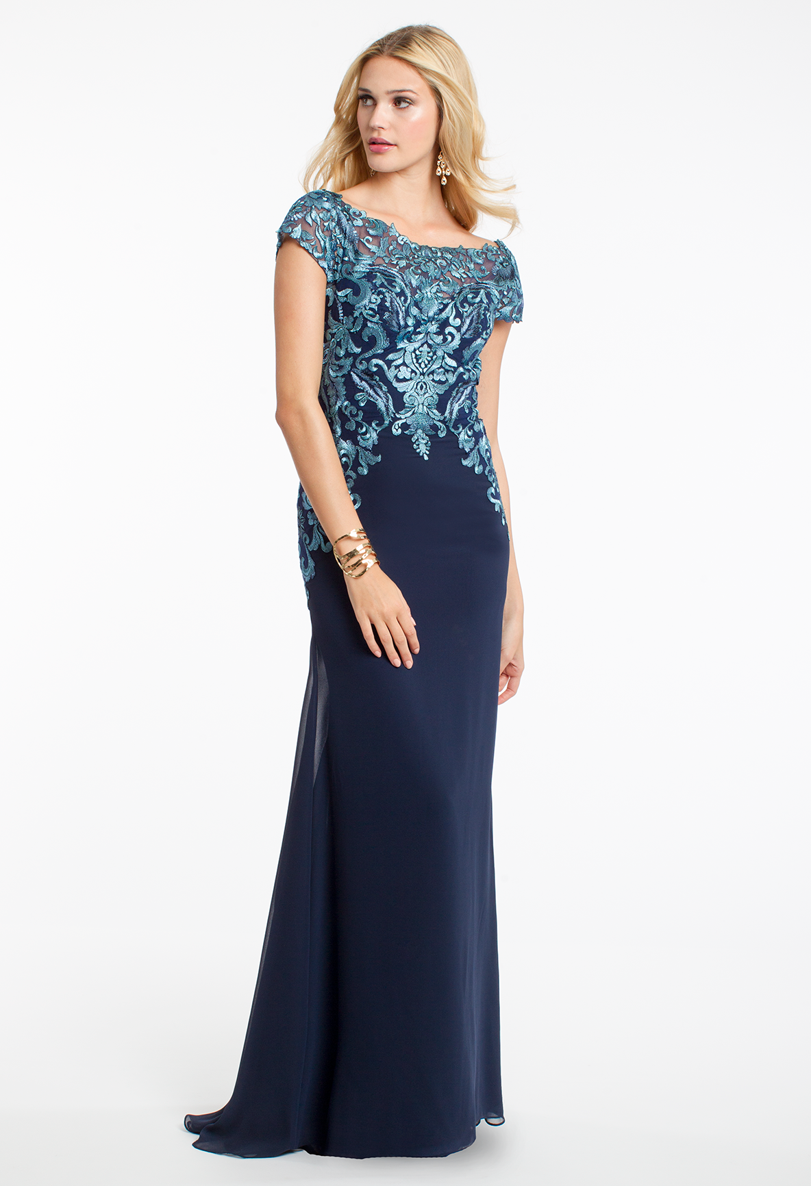 Georgette and sequin dress camillelavie wedding guest style