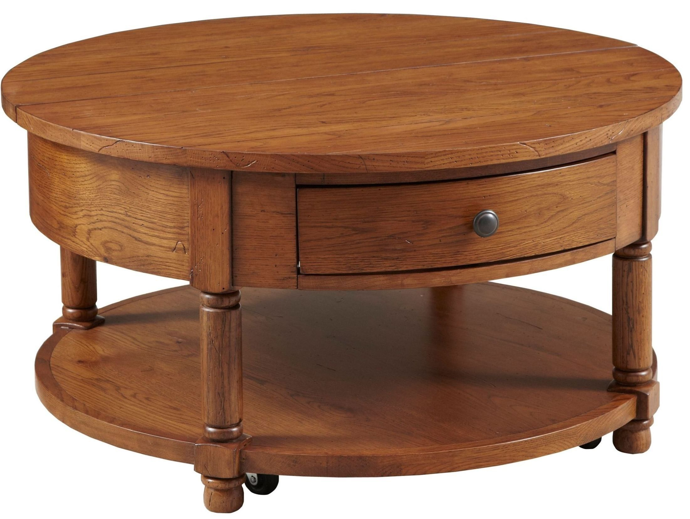Attic Heirlooms Round Cocktail Table 3397 011 Broyhill Broyhill Furniture Furniture Round Cocktail Tables [ 1655 x 2200 Pixel ]