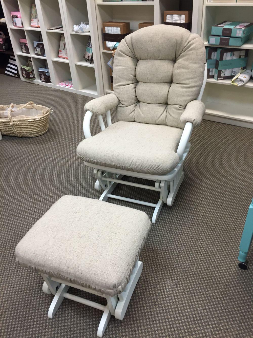 Best Chairs Sona Glider Rocker Ottoman In Natural 28229