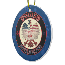 #Polish America Eagle Christmas Ornament. For more holiday ornaments, please check out my store: www.zazzle.com/celticana*/ #ChristmasOrnaments #ChristmasDecorations #Zazzle