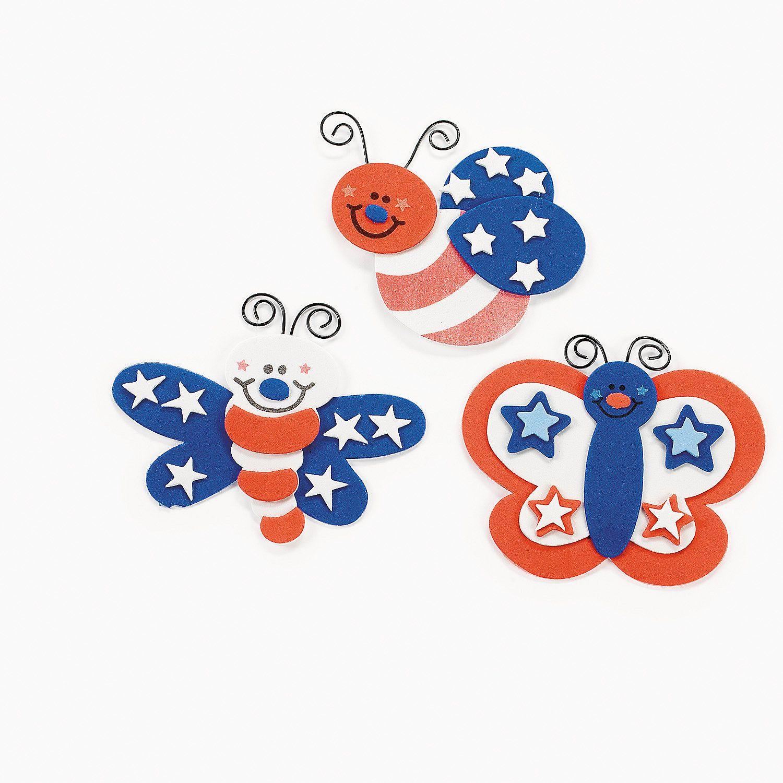 Patriotic Bug Magnet Craft Kit