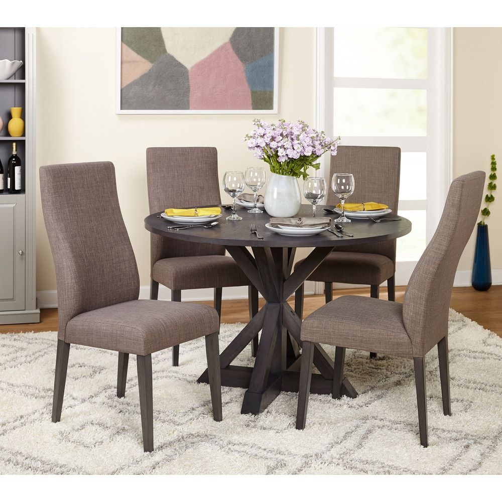 Phenomenal Simple Living 5 Piece Glen Trestle Dining Set Dining Room Short Links Chair Design For Home Short Linksinfo
