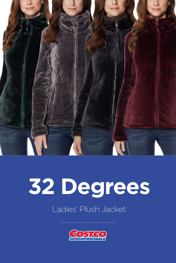 980e11482e48 32 Degrees Ladies  Plush Jacket Outerwear Women