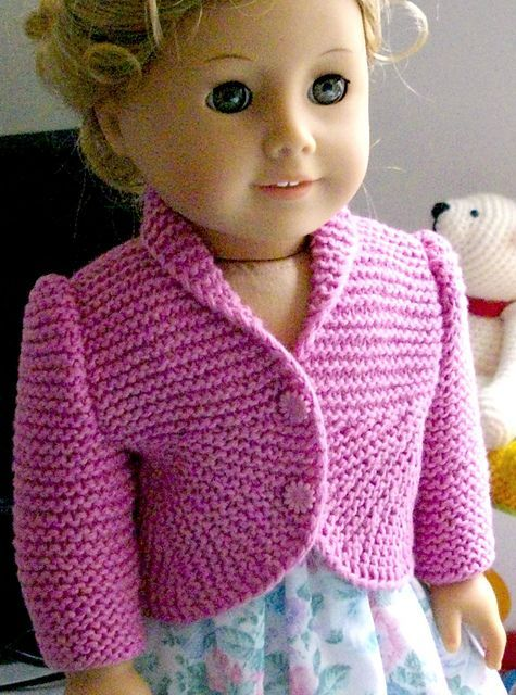Ravelry Summer Jacket With Curved Front For American Girl Doll