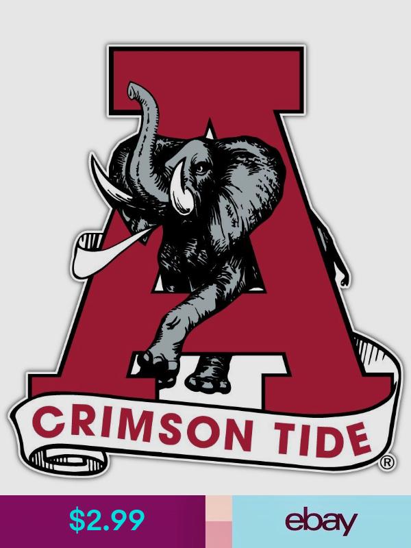 Alabama Crimson Tide Ncaa Car Bumper Window Locker Notebook Sticker Decal 4 X5 Alabama Crimson Tide Logo Crimson Tide Football Alabama Crimson Tide