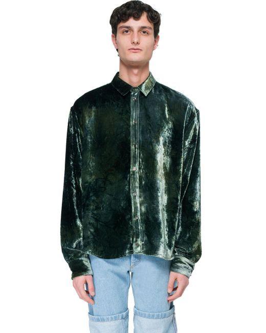 d7367dc8 Men's Green Velvet Shirt   fashion_men   Shirts, Green velvet, Velvet
