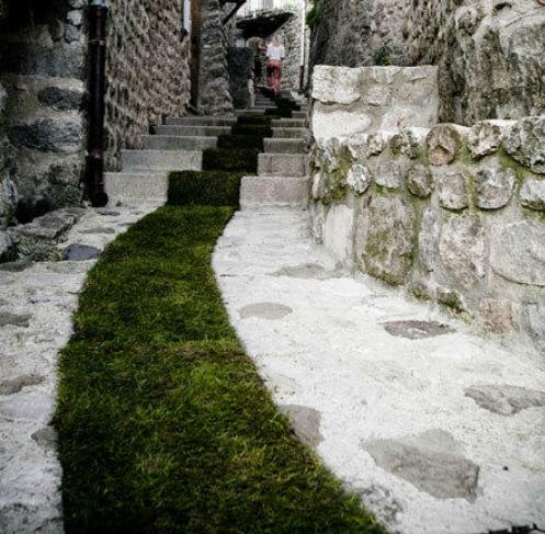 Französischer grüner Teppich, Jaujac