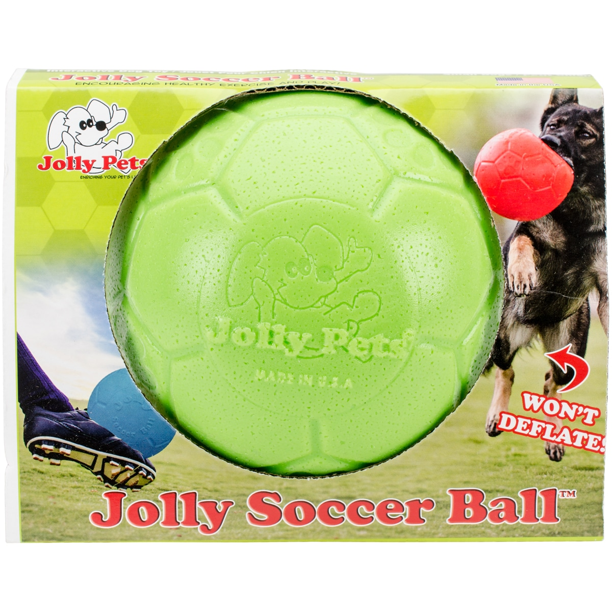 Jolly Soccer Ball Dog Toy (Green Apple 6 in.), Multicolor