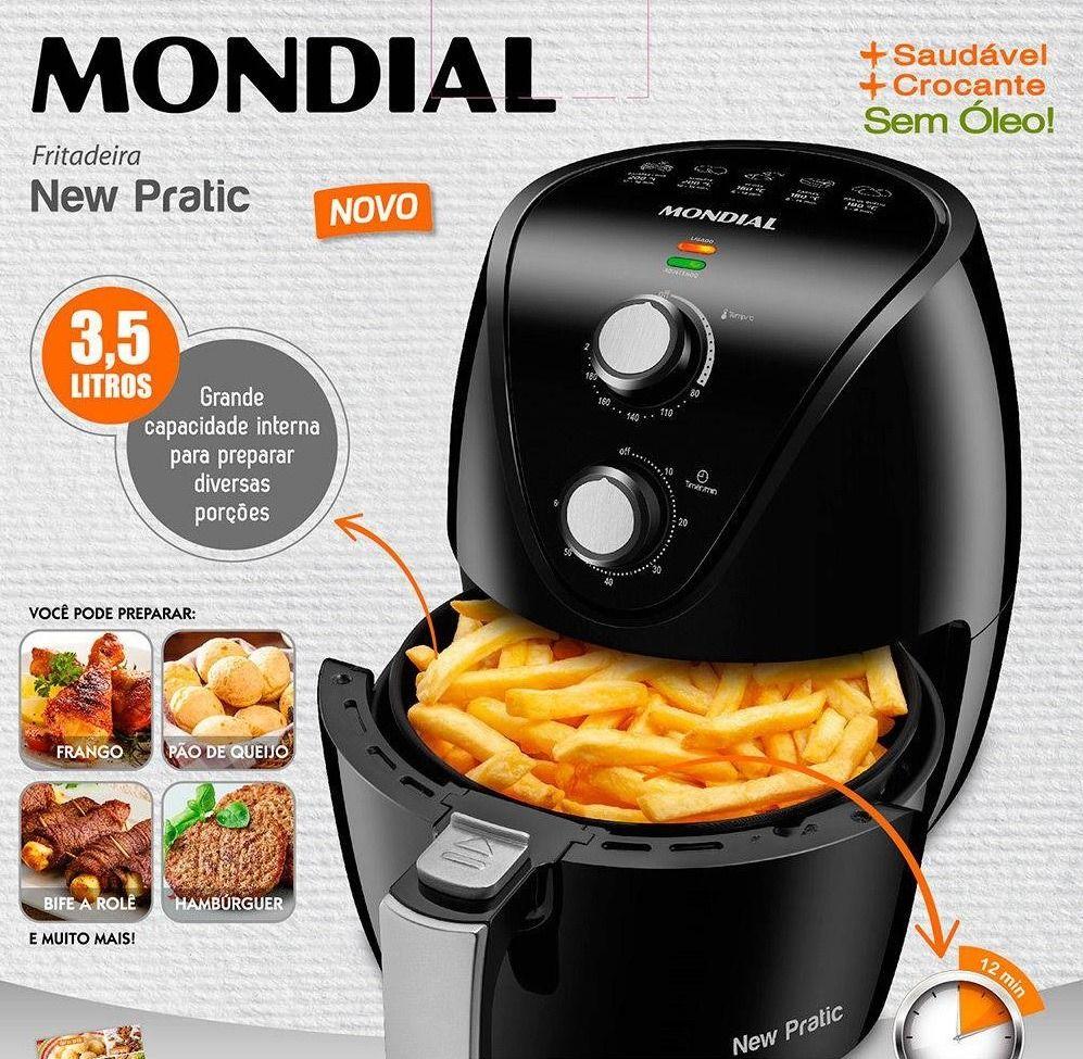 Fritadeira Eletrica Sem Oleo Mondial Air Fryer New Pratic 3 5l